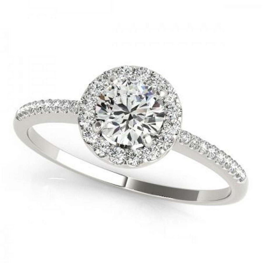 CERTIFIED PLATINUM 1.10 CTW G-H/VS-SI1 DIAMOND HALO ENGAGEMENT RING #PAPPS86224