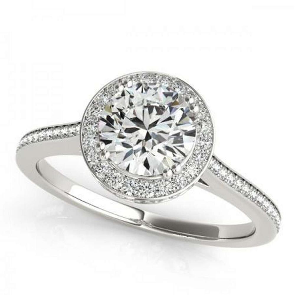 CERTIFIED PLATINUM 1.39 CTW G-H/VS-SI1 DIAMOND HALO ENGAGEMENT RING #PAPPS86243