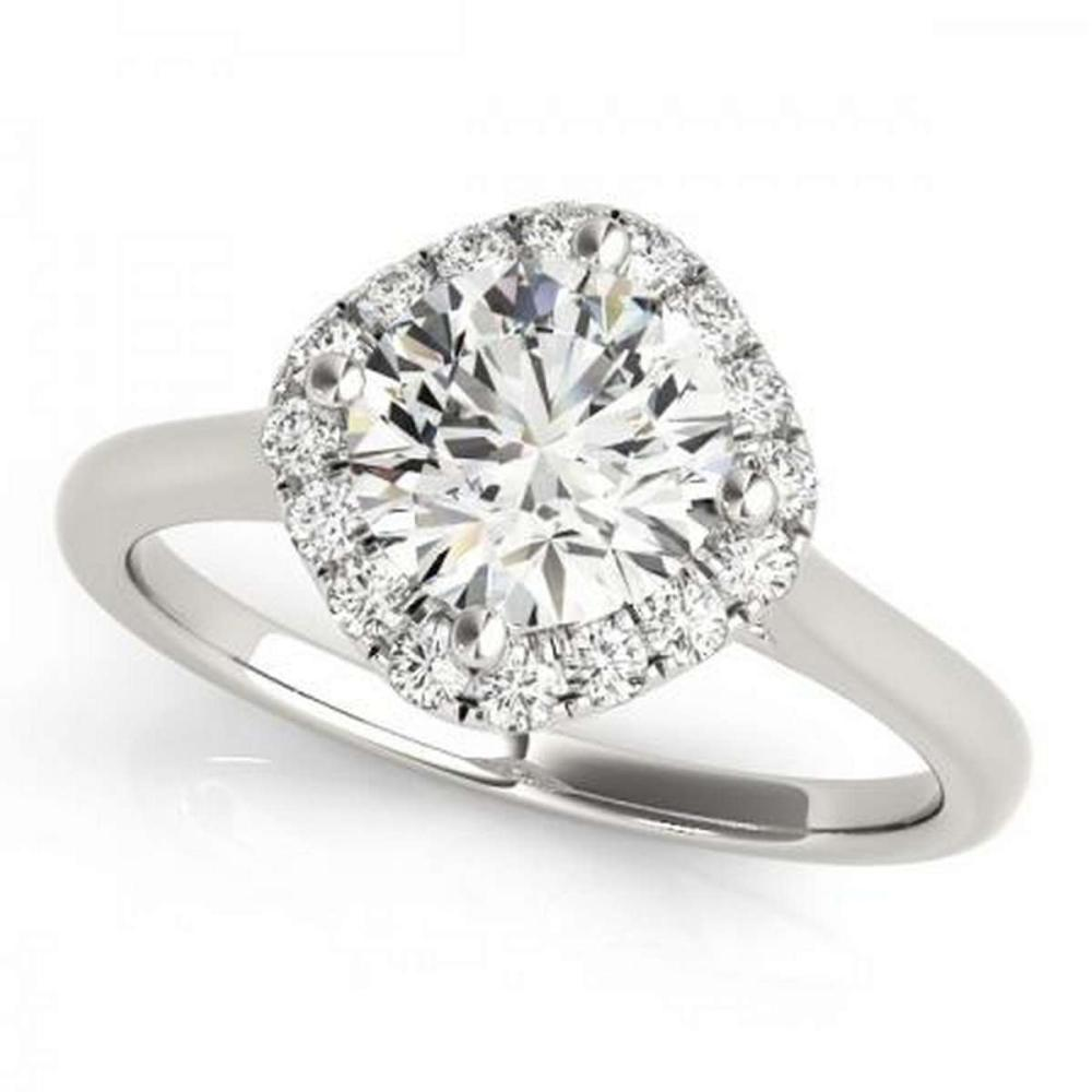 CERTIFIED PLATINUM 1.16 CTW G-H/VS-SI1 DIAMOND HALO ENGAGEMENT RING #PAPPS86165