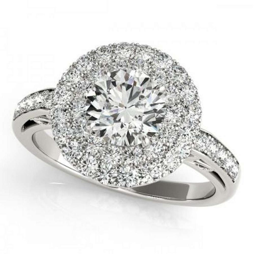 CERTIFIED PLATINUM 1.53 CTW G-H/VS-SI1 DIAMOND HALO ENGAGEMENT RING #PAPPS86198