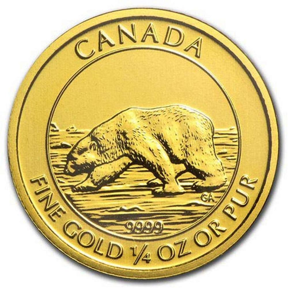 2013 Canada 1/4 oz Gold Polar Bear Uncirculated in Original Mint Plastic #PAPPS58471