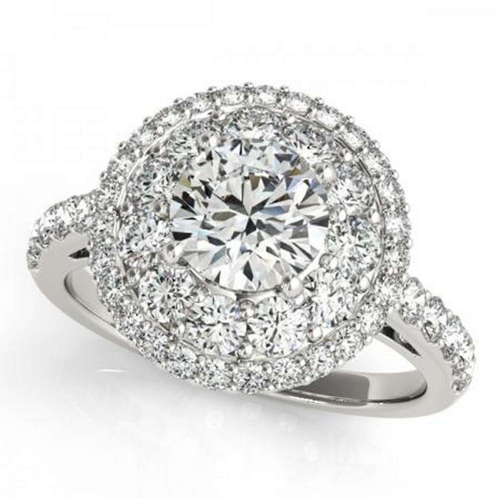 CERTIFIED PLATINUM 1.34 CTW G-H/VS-SI1 DIAMOND HALO ENGAGEMENT RING #PAPPS86248