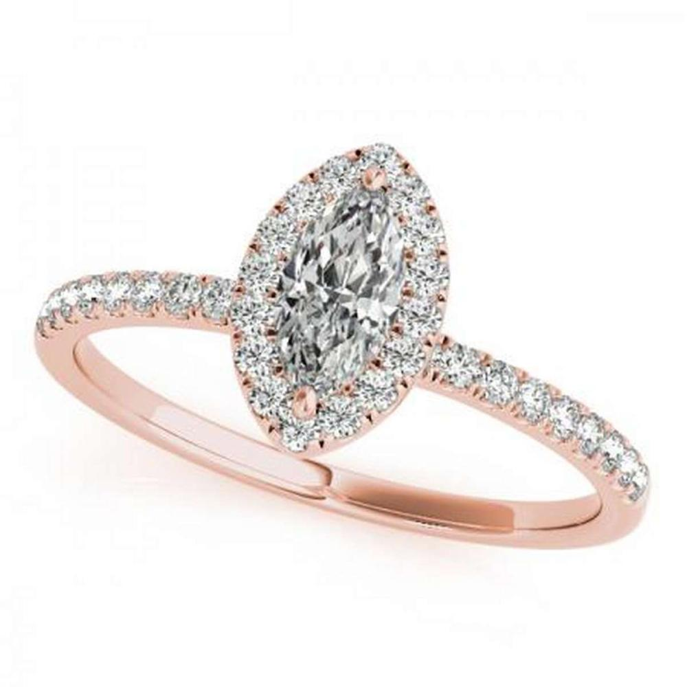 CERTIFIED 14KT ROSE GOLD 1.47 CTW G-H/VS-SI1 DIAMOND HALO ENGAGEMENT RING #PAPPS86252