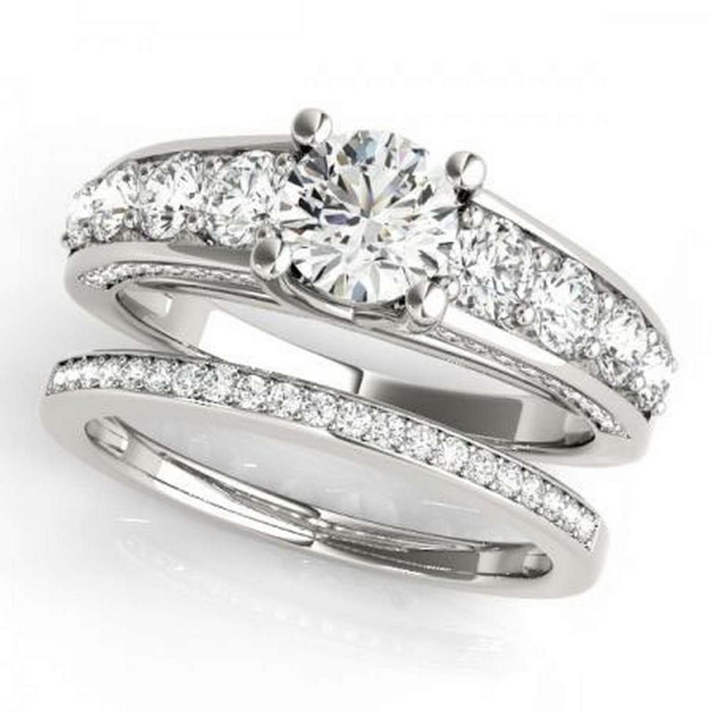 CERTIFIED 18KT WHITE GOLD 2.39 CTW G-H/VS-SI1 DIAMOND BRIDAL SET  #PAPPS86776
