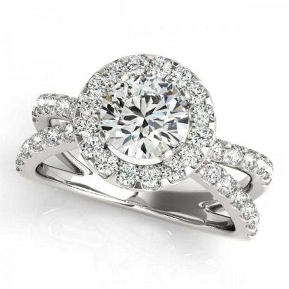 CERTIFIED PLATINUM 1.38 CTW G-H/VS-SI1 DIAMOND HALO ENGAGEMENT RING #PAPPS86213