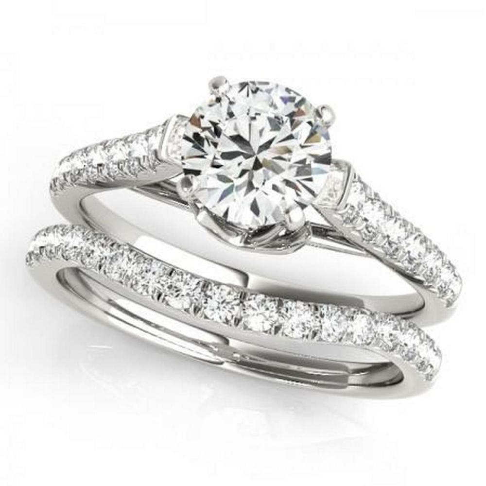CERTIFIED 18KT WHITE GOLD 1.24 CTW G-H/VS-SI1 DIAMOND BRIDAL SET  #PAPPS86749