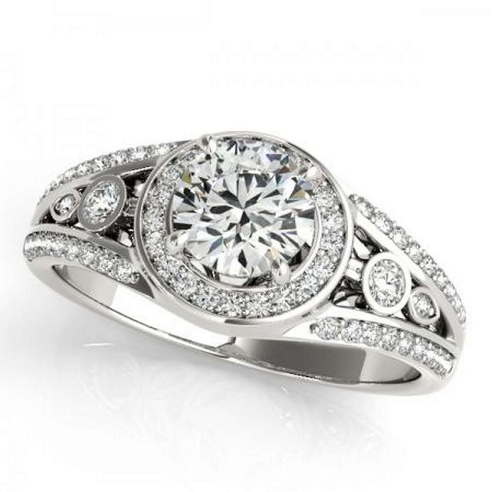 CERTIFIED PLATINUM 1.15 CTW G-H/VS-SI1 DIAMOND HALO ENGAGEMENT RING #PAPPS86177