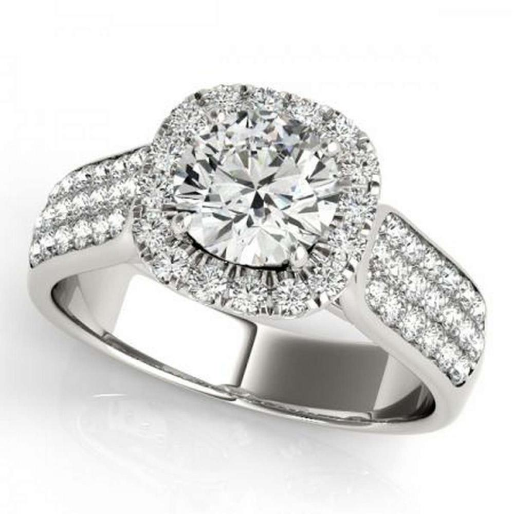 CERTIFIED PLATINUM 1.40 CTW G-H/VS-SI1 DIAMOND HALO ENGAGEMENT RING #PAPPS86170