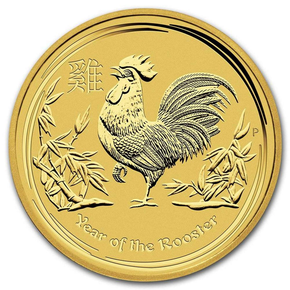Australian Perth Mint Series II Lunar Gold 10 Ounce 2017 Rooster #PAPPS58427