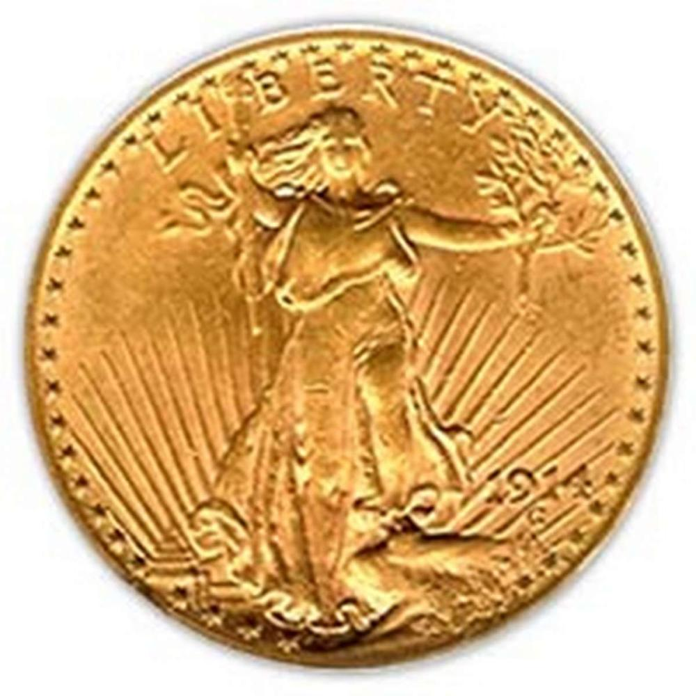 Early Gold Bullion $20 Saint Gaudens Almost Uncirculated #PAPPS58422