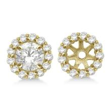 Round Diamond Earring Jackets for 5mm Studs 14K Yellow Gold (0.50ct) #68054v3