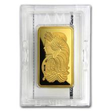 10 oz Gold Bar - PAMP Suisse Lady Fortuna Veriscan (w/Assay) #75147v3