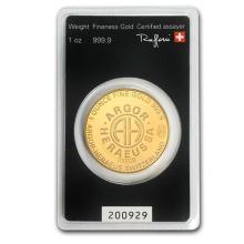 1 oz Gold Round - Argor-Heraeus KineRound Design (In Assay) #75134v3