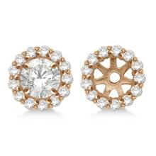 Round Diamond Earring Jackets for 6mm Studs 14K Rose Gold (0.55ct) #68058v3