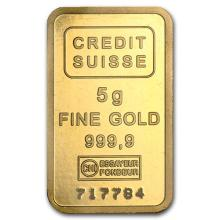 5 gram Gold Bar - Credit Suisse Statue of Liberty #75106v3