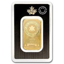 1 oz Gold Bar - Royal Canadian Mint (New Style, In Assay) #75097v3