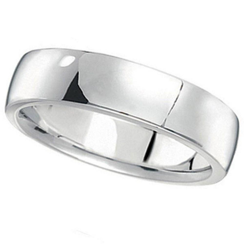platinum Wedding Ring Low Dome Comfort Fit 5 mm