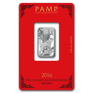 10 gram Silver Bar - PAMP Suisse (Year of the Monkey) #PAPPS74808