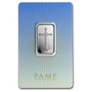 10 g Silver Bar - PAMP Suisse Religious Series (Romanesque Cross) #PAPPS74812