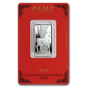 10 gram Silver Bar - PAMP Suisse (Year of the Horse) #PAPPS74804