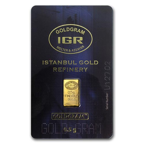 1/2 gram Gold Bar - Istanbul Gold Refinery (In Assay) #PAPPS75109