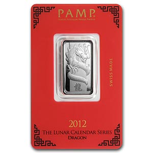 10 gram Silver Bar - PAMP Suisse (Year of the Dragon) #PAPPS74791