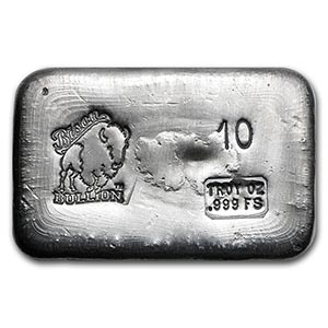 10 oz Silver Bar - Bison Bullion #PAPPS74781