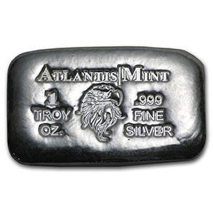 1 oz Silver Bar - Atlantis Mint (Eagle) #PAPPS74799