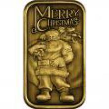Christmas 2014 Bronze Bar BX-1 Santa with Toy Bag #PAPPS96576