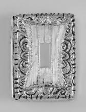 Antique Syle Etched Engravable Silver Pillbox #PAPPS97362
