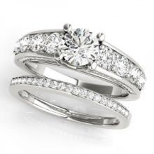 CERTIFIED 18KT WHITE GOLD 2.39 CT G-H/VS-SI1 DIAMOND BRIDAL SET #PAPPS86776