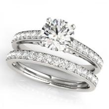 CERTIFIED 18KT WHITE GOLD 1.31 CT G-H/VS-SI1 DIAMOND BRIDAL SET #PAPPS86775
