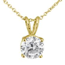 0.75ct. Round Diamond Solitaire Pendant in 18k Yellow Gold (H, VS2) #PAPPS51799