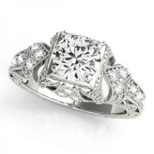 18KT WHITE GOLD .90 CT G-H/VS-SI1 VINTAGE STYLE DIAMOND RING #PAPPS86793