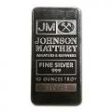 Johnson Matthey Bar 10 oz Bar - Pressed JM Logo #PAPPS96011