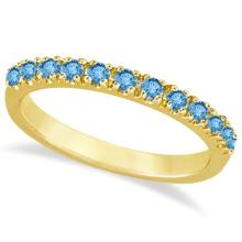 Blue Topaz Stackable Band Ring Guard in 14k Yellow Gold (0.38ct) #PAPPS53791