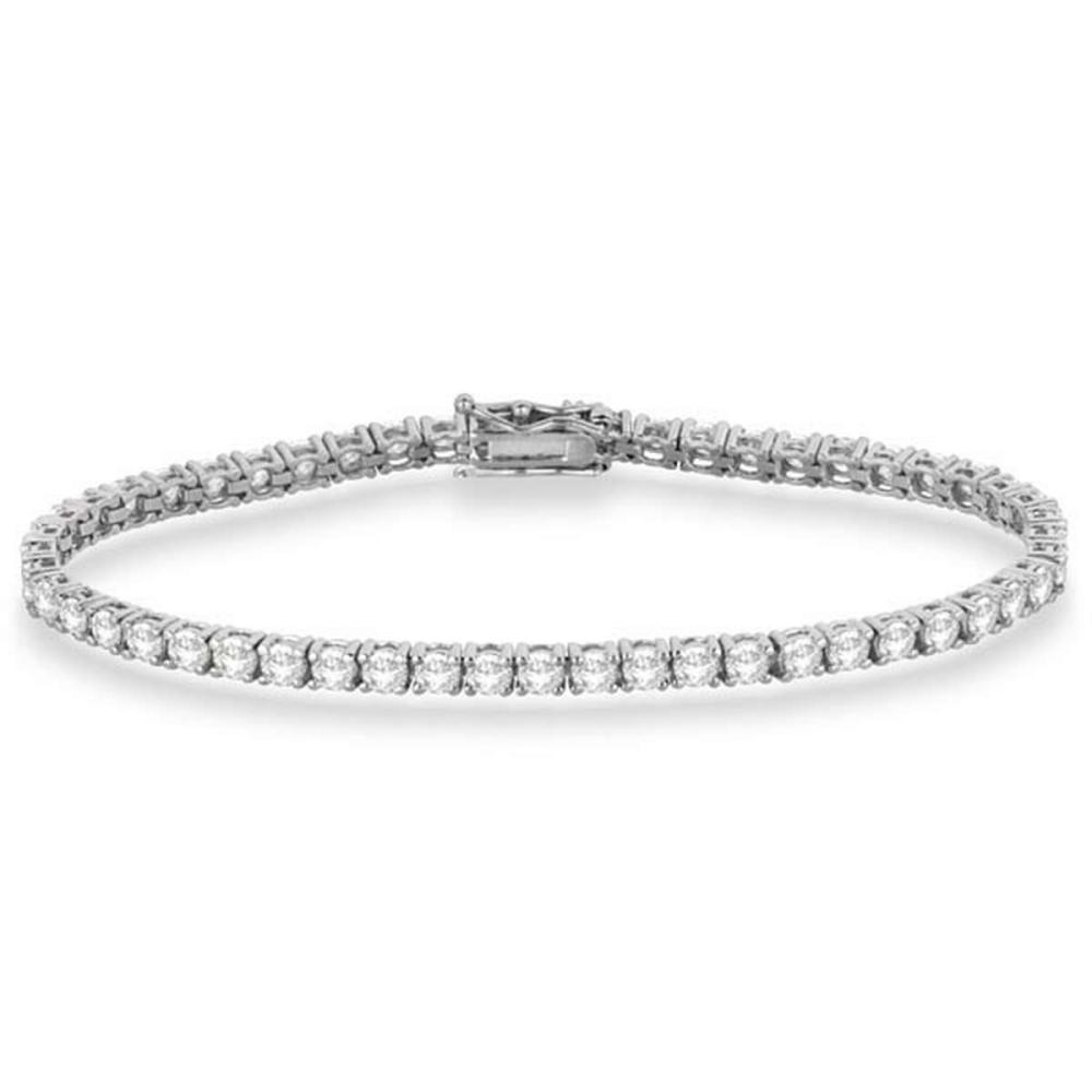 Eternity Diamond Tennis Bracelet 14k White Gold (4.13ct) #PAPPS20792