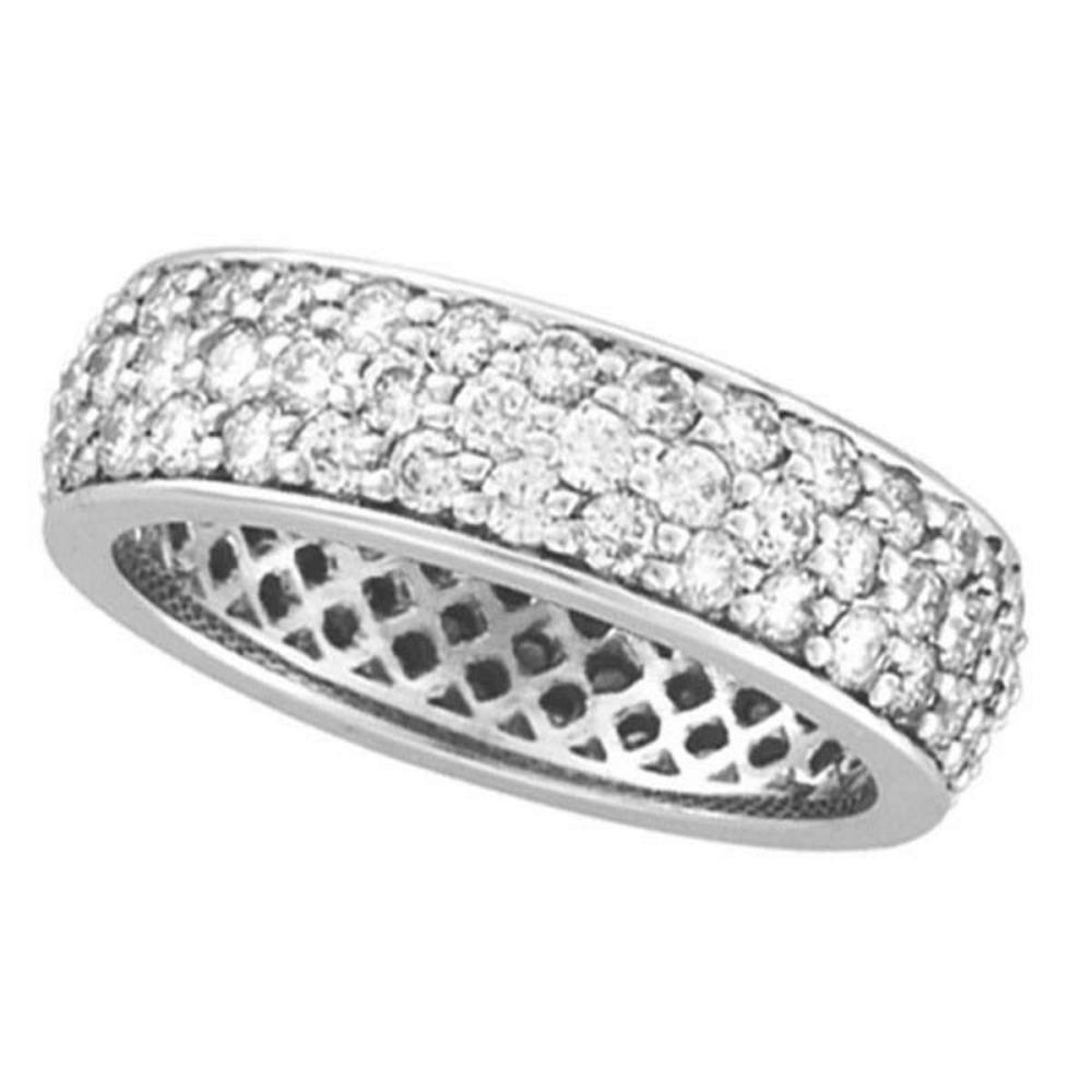 Pave Set Diamond Eternity Ring Wide Band 14k White Gold (2.23ct) #PAPPS51937