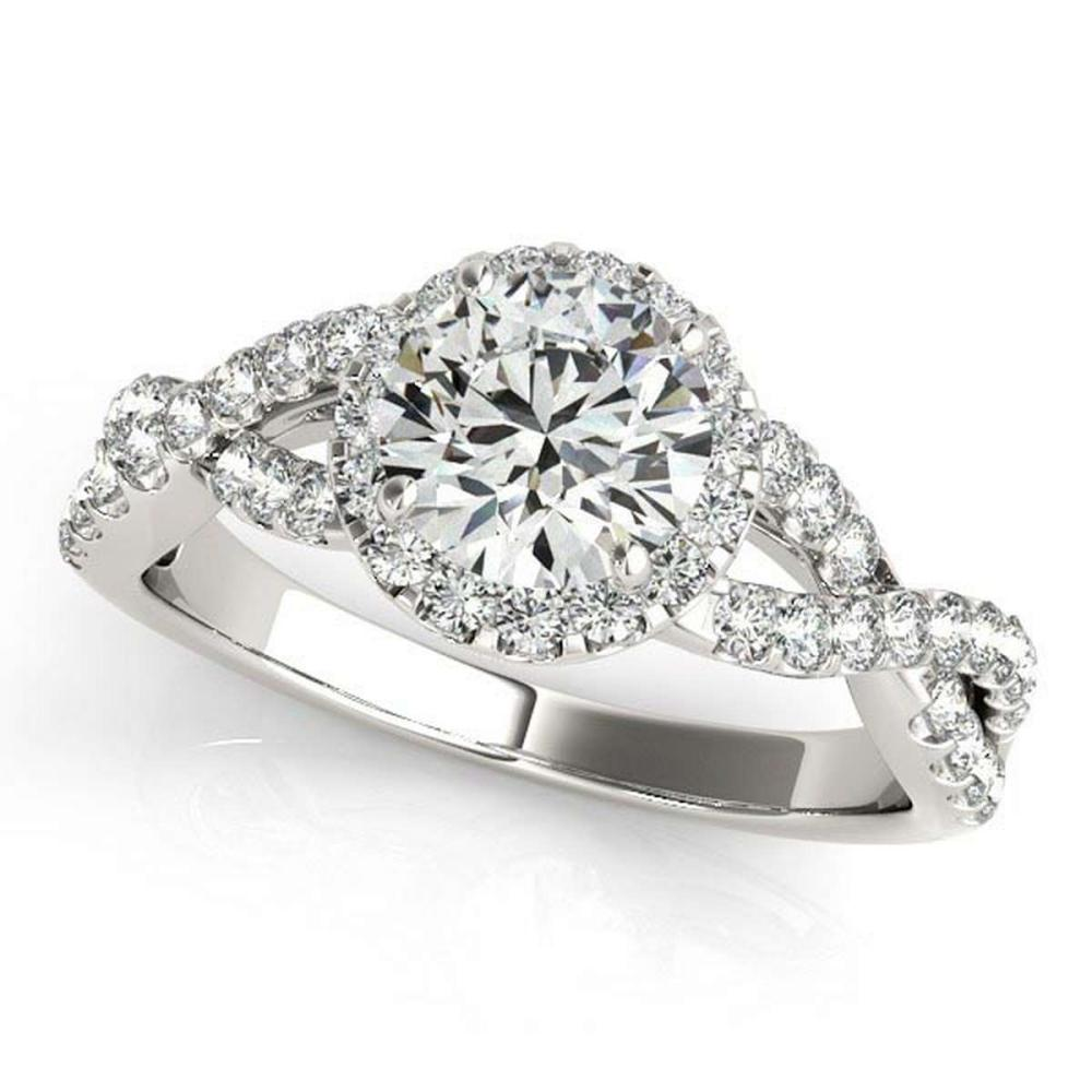 Diamond Infinity Twisted Halo Engagement Ring 14k White Gold 1.50ct #PAPPS20768
