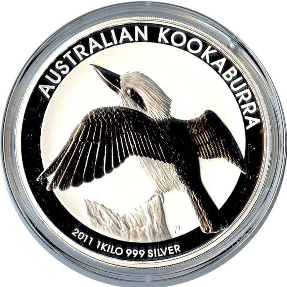 Australian Kookaburra Kilo Silver 2011 #PAPPS84347