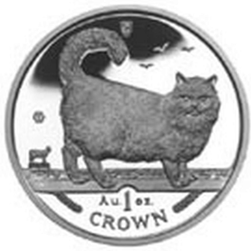 Isle of Man 1998 1 Crown Silver Proof Birman Cat #PAPPS84441