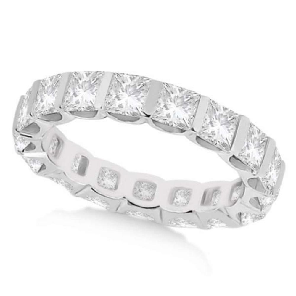 Bar-Set Princess Cut Diamond Eternity Ring Band 14k White Gold (1.15ct) #PAPPS20755
