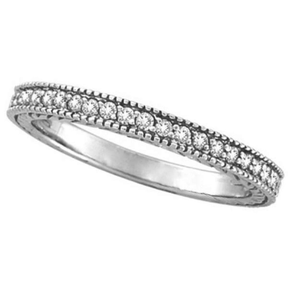 Diamond Stackable Ring Thin Band in 14K White Gold (0.31 ctw) #PAPPS51631