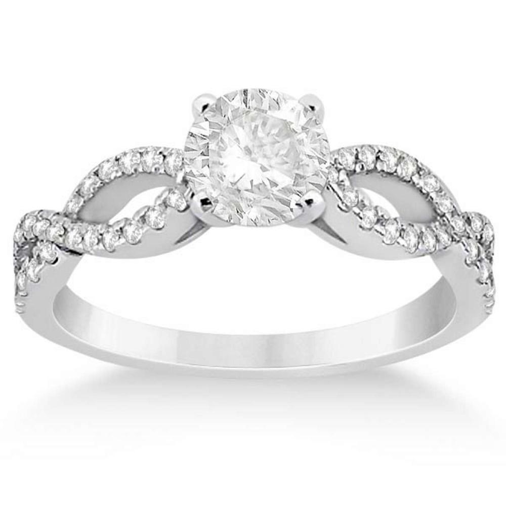 Diamond Twist Infinity Engagement Ring 14K White Gold (0.90ct)  #PAPPS20794
