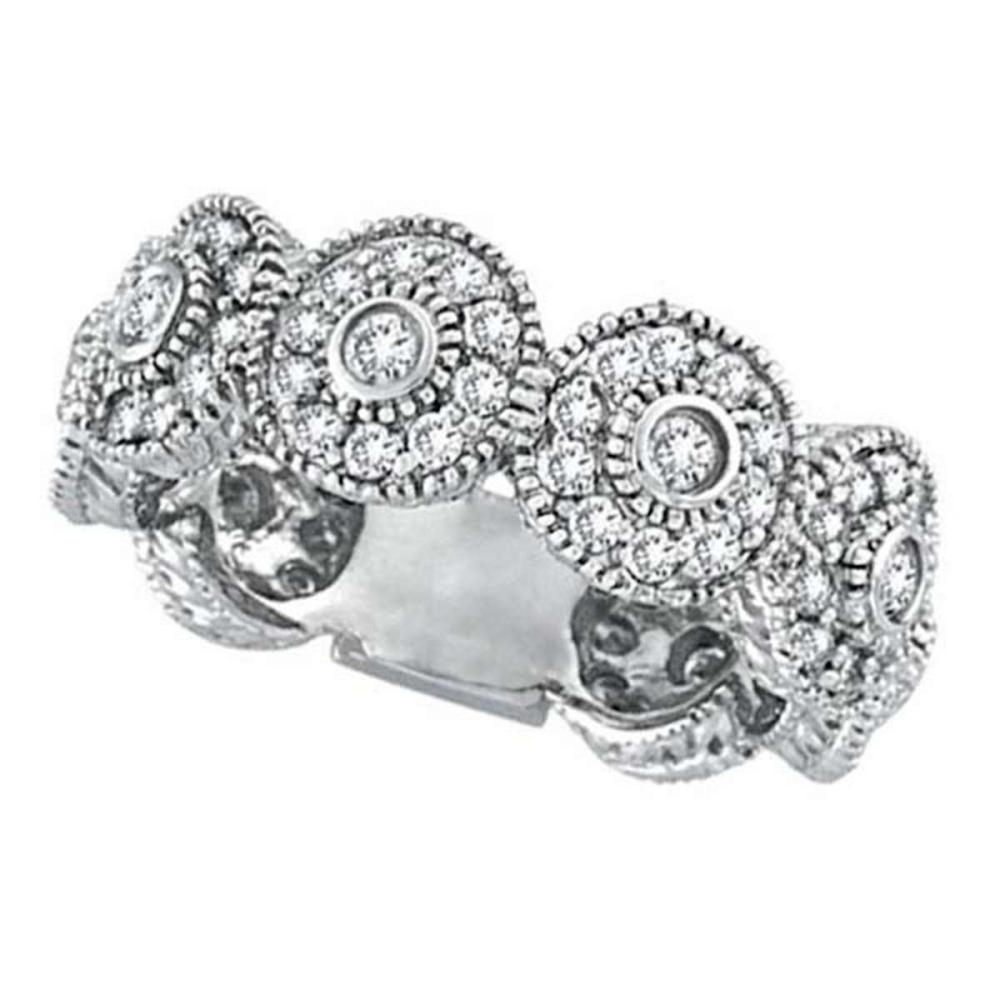 Venetian Eternity Diamond Ring With Circles 14k White Gold (1.26 ctw) #PAPPS51605