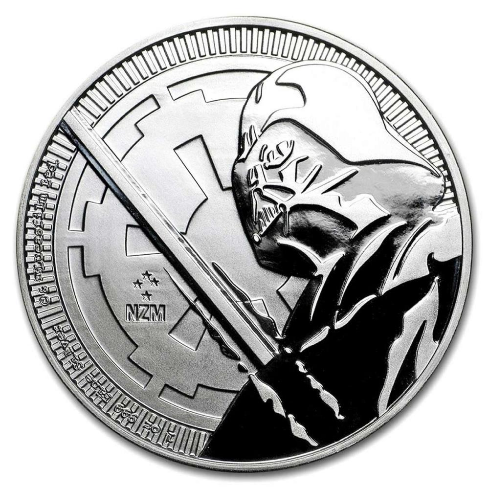 2018 1 oz Niue Darth Vader Lightsaber Star Wars Silver Coin #PAPPS84390