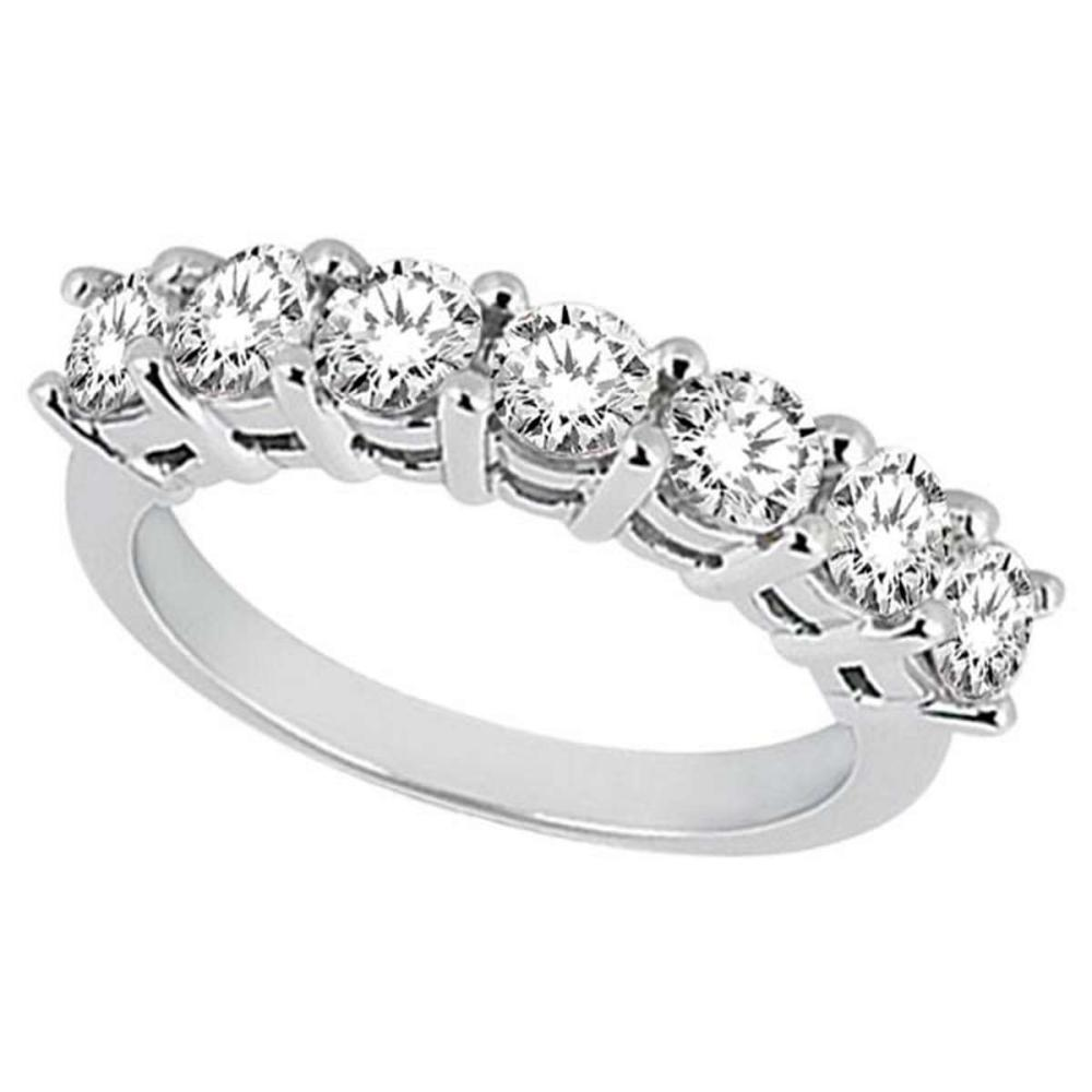 Semi-Eternity Diamond Wedding Band in 18k White Gold (0.35 ctw) #PAPPS51767