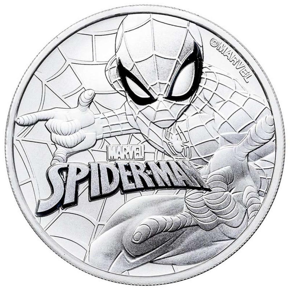 2017 Tuvalu 1 oz Silver $1 Marvel Series SPIDERMAN Coin BU #PAPPS84393