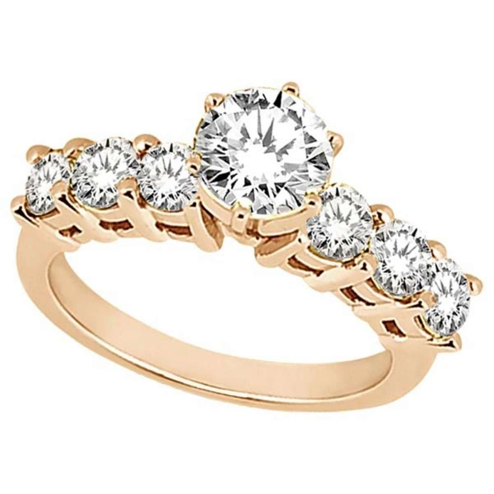Seven-Stone Diamond Engagement Ring in 18k Rose Gold (0.30 ctw) #PAPPS51761