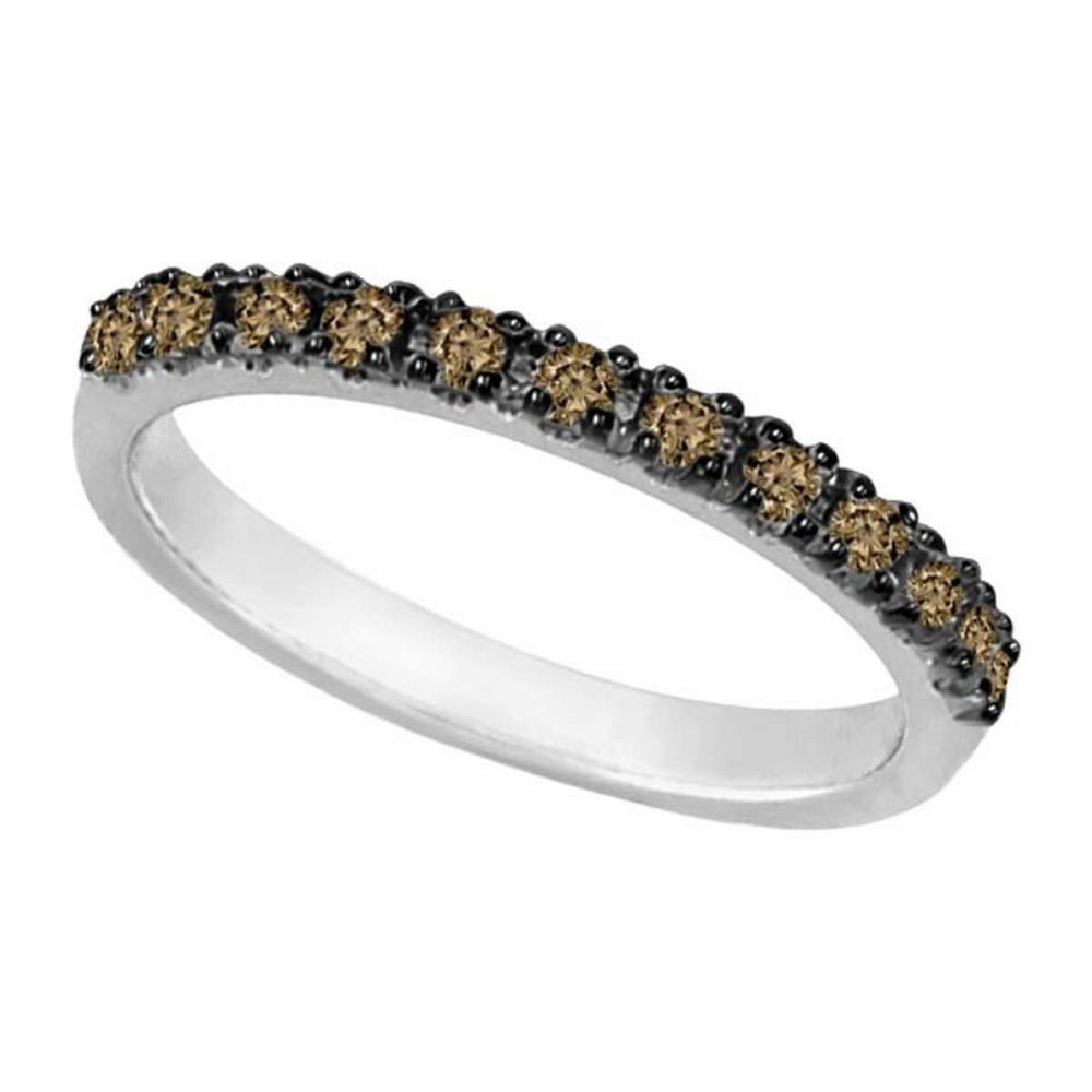 Champagne Diamond Stackable Ring Guard 14k White Gold (0.25ct) #PAPPS51900